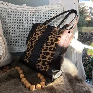 🖤 LEATHER LEOPARD TOTE 🖤